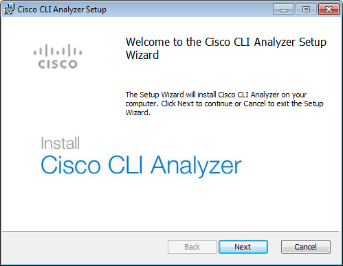 Cisco CLI Analyzer User Guide - Download and Install the