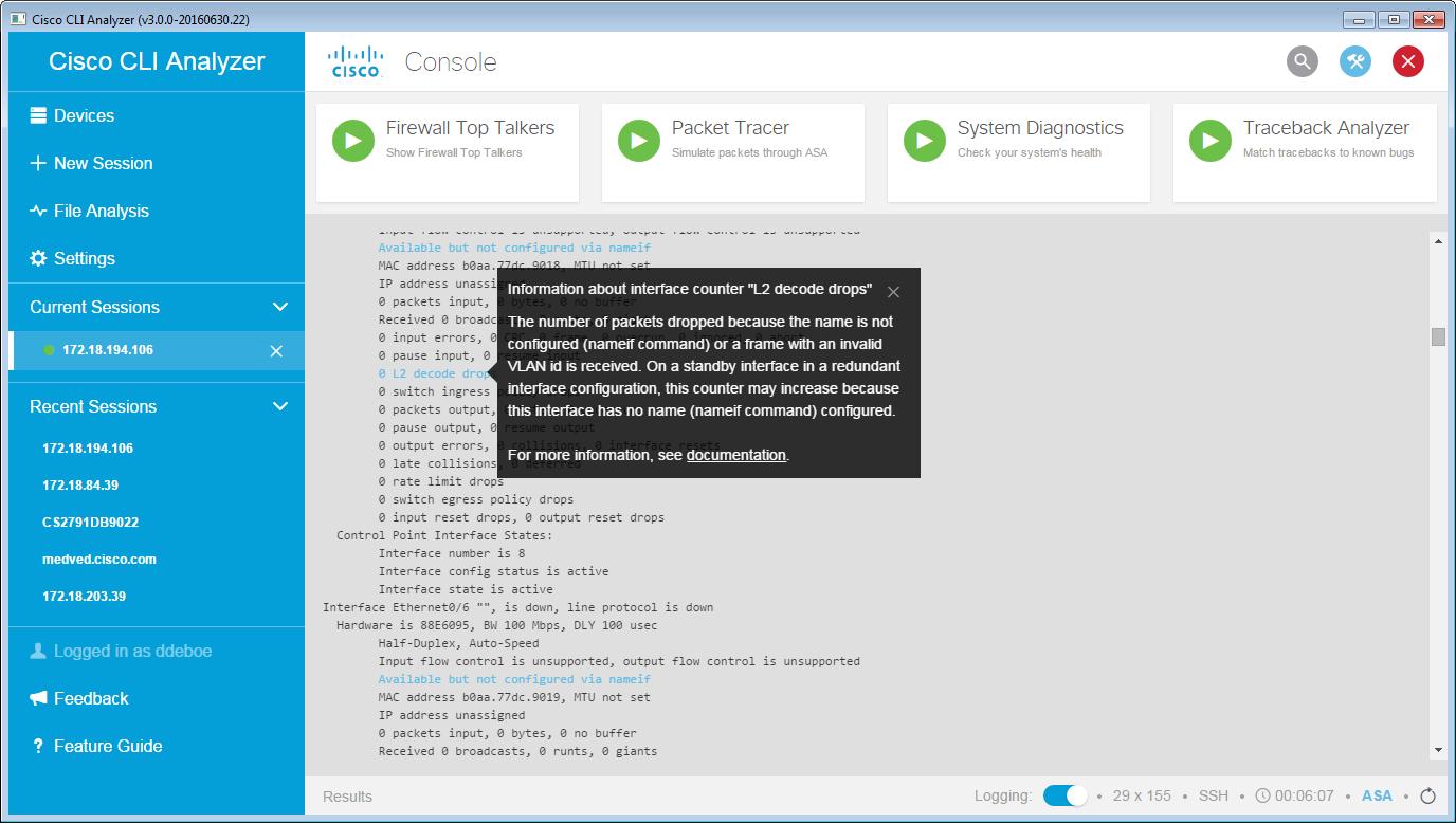 Cisco Cli Analyzer Help Guide Contextual Help And